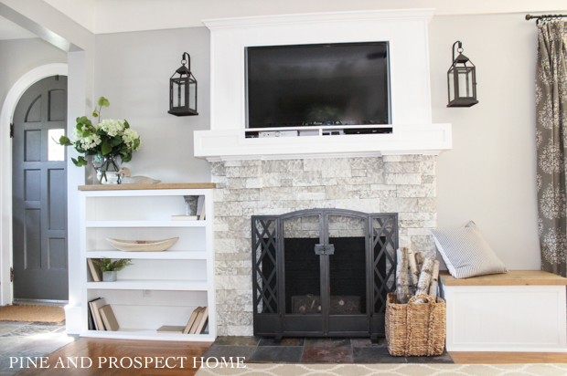 Easy Airstone Fireplace Makeover