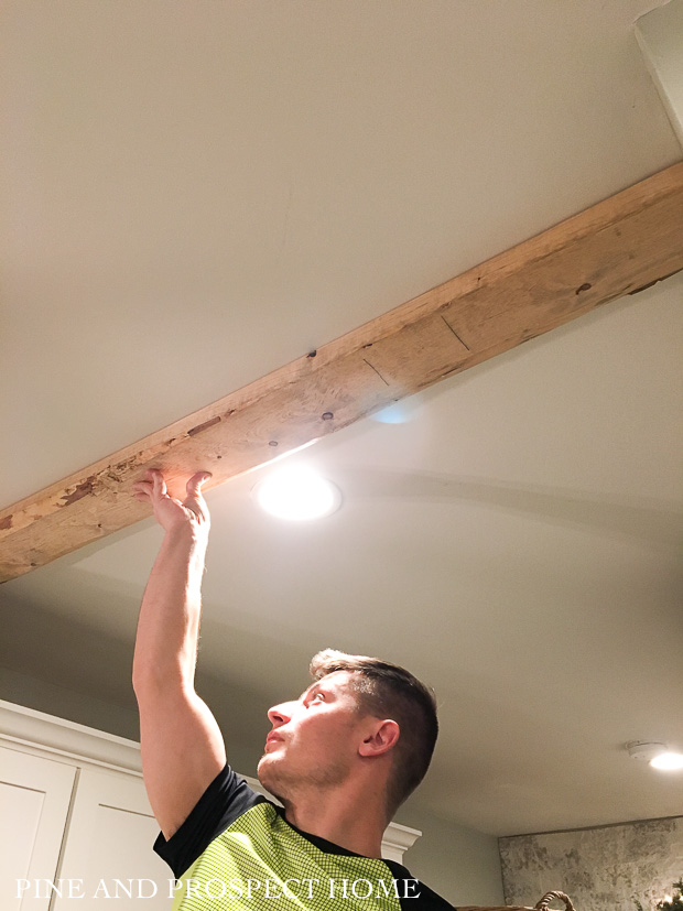 Easiest Faux Beams Ever Pine And Prospect Home