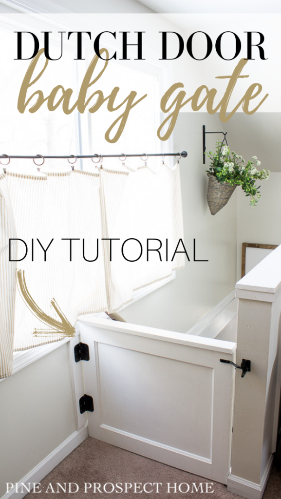 Dutch Door Baby Gate Diy Tutorial Pine And Prospect Home
