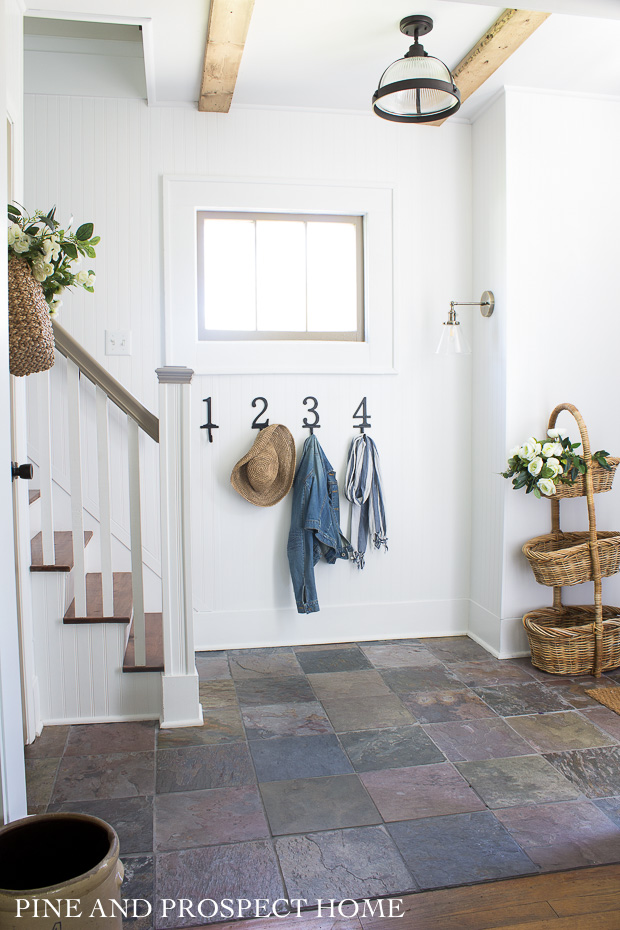 Our cottage style entryway in the summer