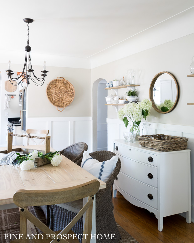 Our cottage style dining room in the summertime