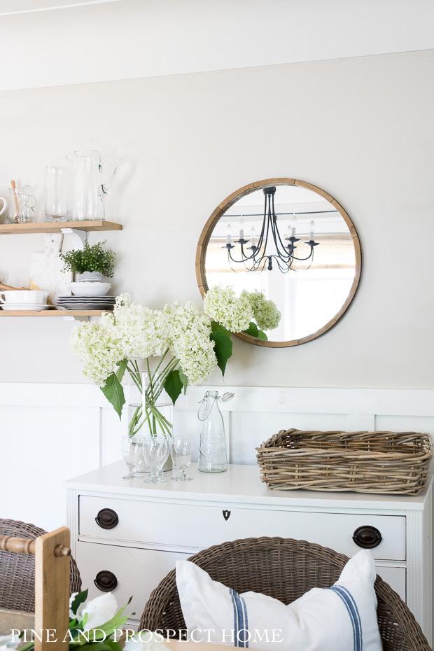 Fresh cut hydrangeas make for the perfect summer cottage decor