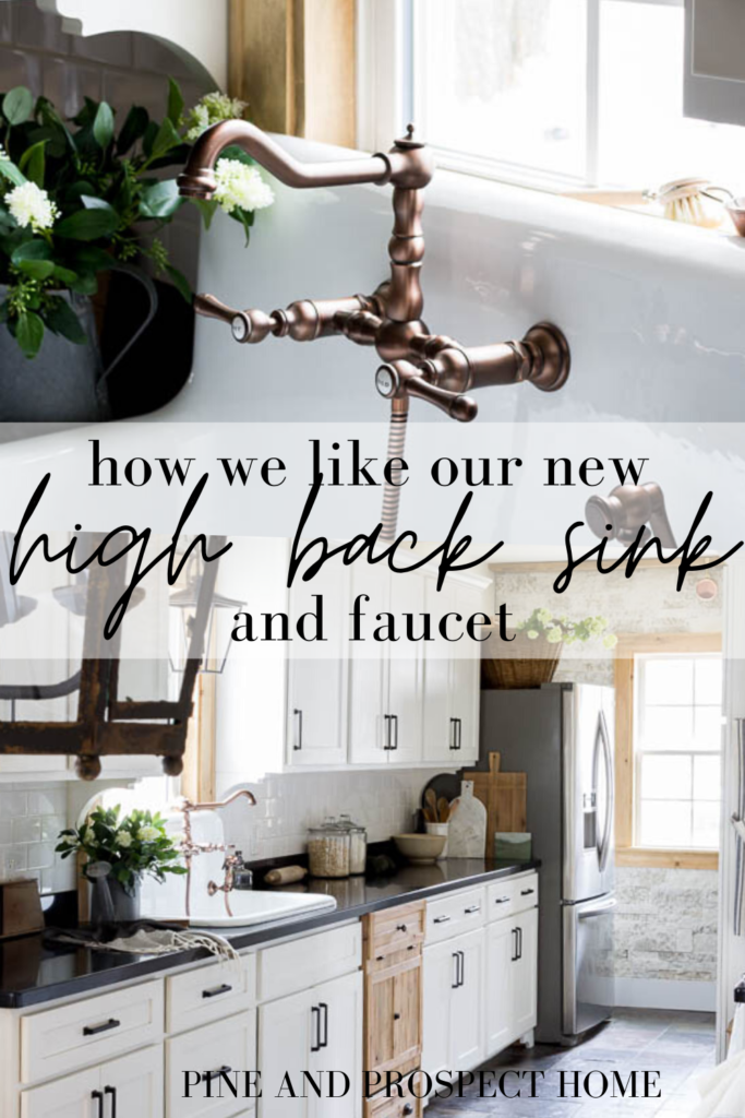 A New High Back Sink And Faucet In Our Cottage Kitchen Pine And Prospect Home