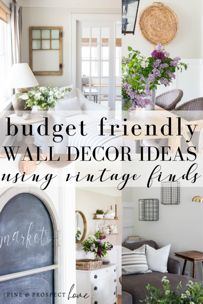 Budget Friendly Wall Decor Ideas Using Vintage Finds Pine And Prospect Home